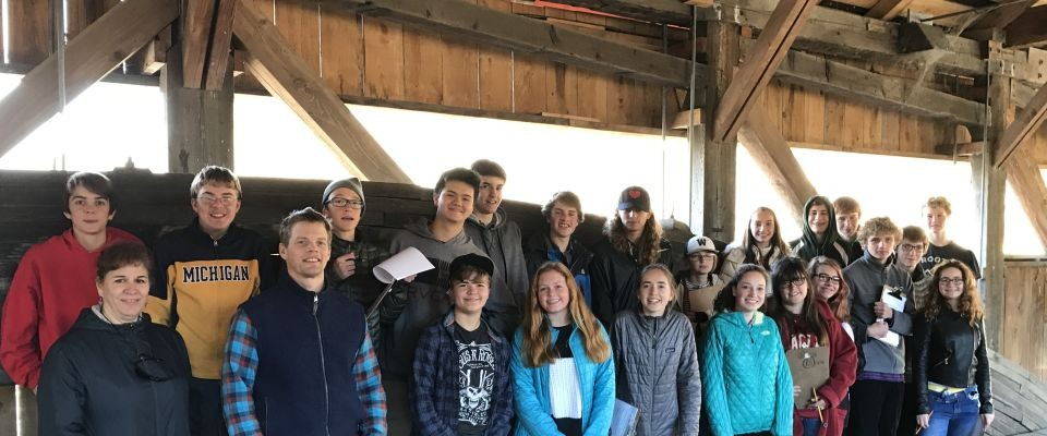 High school geometry class and Vermont covered bridges; what a great match!